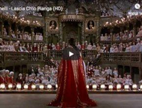 The castrato Farinelli sings Handel's aria Lascia Ch'io Pianga from the opera Rinaldo