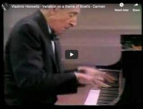 Vladimir Horowitz plays his variations on Bizet's Gypsy Dance from his opera Carmen