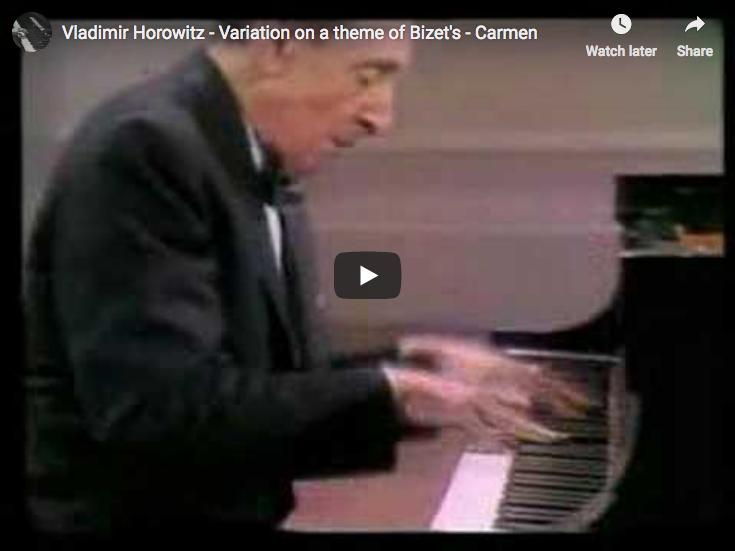 Horowitz - Carmen Variations - Horowitz, Piano