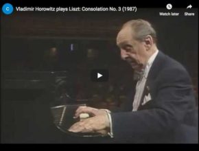 Vladimir Horowitz plays Liszt's Consolation No 3 in D-flat major
