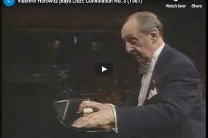 Liszt – Consolation No. 3 – Horowitz, Piano