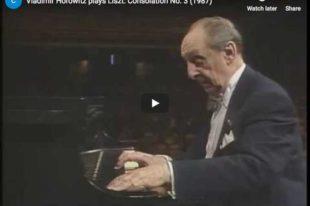 Liszt - Consolation No. 3 - Horowitz, Piano