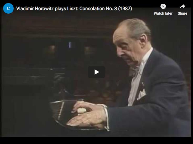 Liszt – Consolation No. 3 in D-flat major – Horowitz, Piano