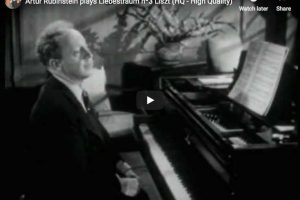 Liszt – Dreams of Love – Rubinstein, Piano