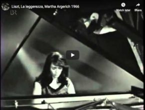 Martha Argerich plays La Leggereza, one of Franz Liszt's Three Concert Etudes for piano