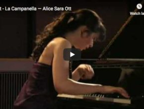 The German-Japanese pianist performs Liszt's Etude from Paganini, La Campanella