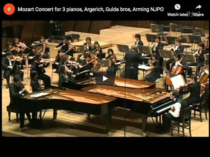Mozart – Concerto for 3 pianos – Argerich, Paul & Rico Gulda