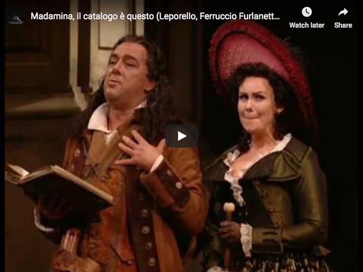 Mozart - Don Giovanni - Il catalogo - Furlanetto, Bass