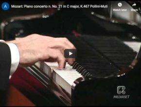 The Italian pianist Maurizio Pollini performs Mozart's Piano Concerto No. 20 in C major