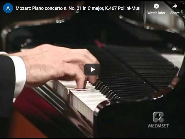 The Italian pianist Maurizio Pollini performs Mozart's Piano Concerto No. 20 in C major