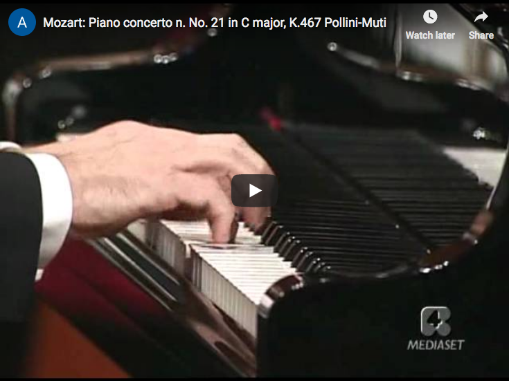 Mozart - Piano Concerto No. 21 in C major - Pollini, Muti