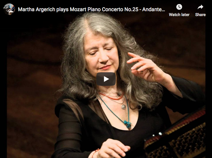 Mozart – Piano Concerto No. 25, 2nd movement – Argerich