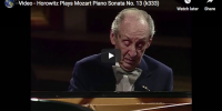 Mozart – Piano Sonata No. 13 in B-flat major – Horowitz