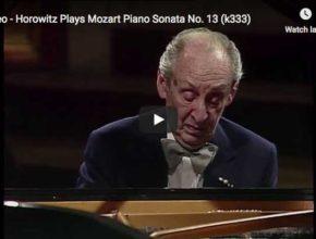 Vladimir Horowitz plays Mozart's Sonata No. 13 in B-flat major for piano