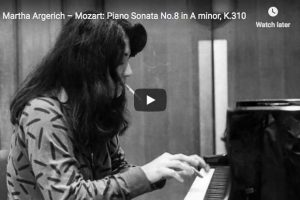 Mozart – Piano Sonata No. 8 – Martha Argerich