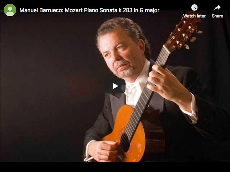 Mozart –  Piano Sonata No. 5 in G major – Barrueco, Guitar