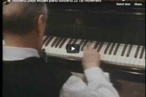 Mozart – Concerto No 23 – Horowitz, Piano