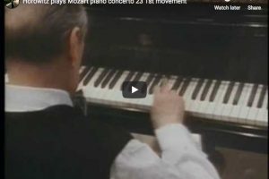Mozart – Piano Concerto No 23 in A major – Horowitz, Piano