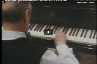 Mozart - Concerto No 23 - Horowitz, Piano