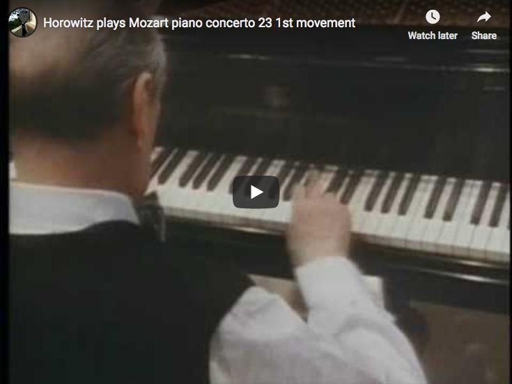 Mozart – Piano concerto No. 23, 1st movement – Horowitz, Giulini