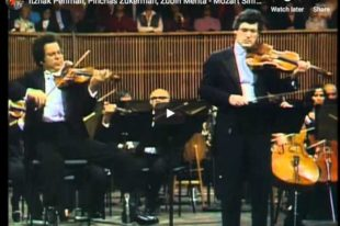 Mozart - Sinfonia Concertante - Perlman, Violin; Zukerman, Viola