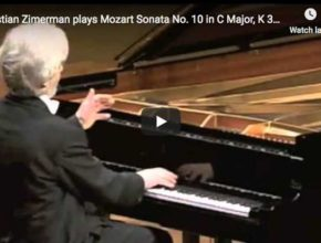 Krystian Zimerman performs Mozart's piano No. 10 in C major