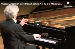 Mozart - Sonata No 10 in C Major - Zimerman, Piano