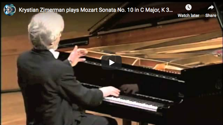 Mozart – Sonata No. 10 in C Major – Zimerman, Piano