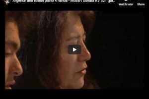 Mozart – Sonata for Piano Four Hands – Argerich; Kissin