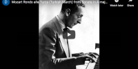 Mozart – Turkish March – Horowitz, Piano