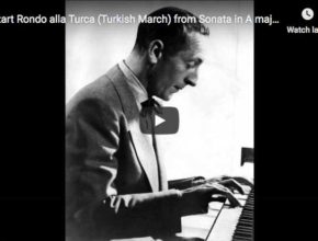 The pianist Vladimir Horowitz performs the third ans last movement from Mozart's Sonata No. 11 in A major, the Turkish March in A minor