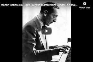 Mozart – Turkish March – Horowitz, Piano