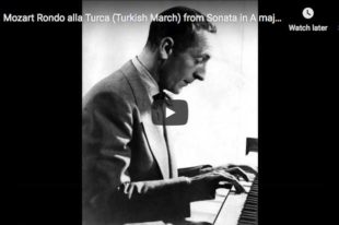 Mozart - Turkish March - Horowitz, Piano