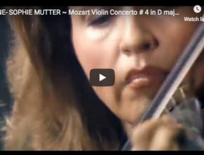 Anne-Sophie Mutter is playing Mozart's Violin Concerto No. 4 in D major