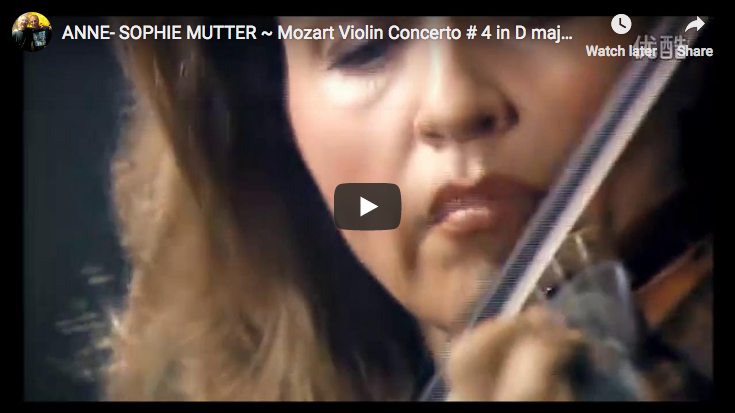 Mozart – Violin Concerto No. 4 in D major – Mutter
