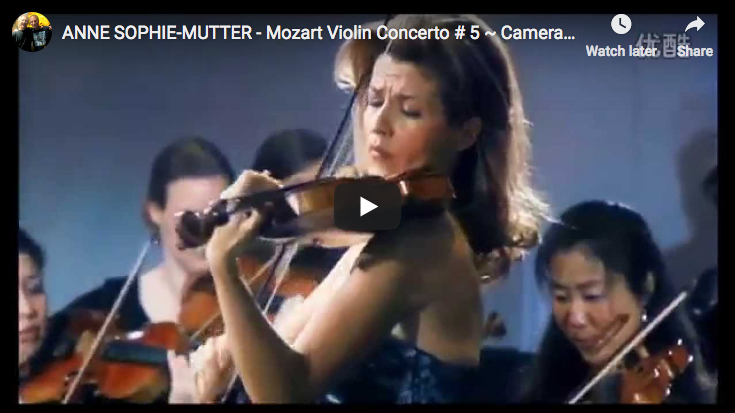 Mozart - Violin Concerto No. 5 in A major - Mutter