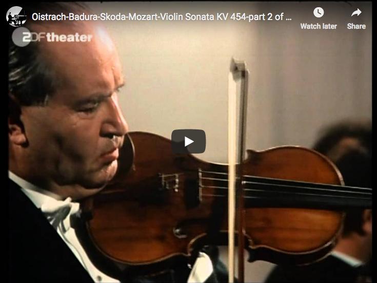 Mozart – Violin Sonata No. 32 (mvt 2) – Oistrach, Violin; Badura-Skoda, Piano