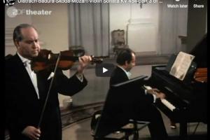 Mozart – Violin Sonata No 32 – Oistrach, Violin; Badura-Skoda, Piano