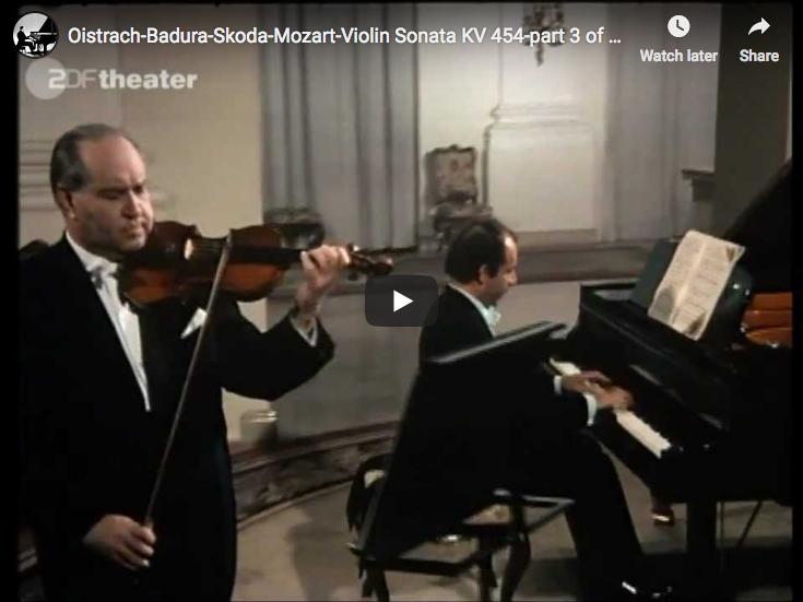 Mozart - Violin Sonata No 32 - Oistrach, Violin; Badura-Skoda, Piano
