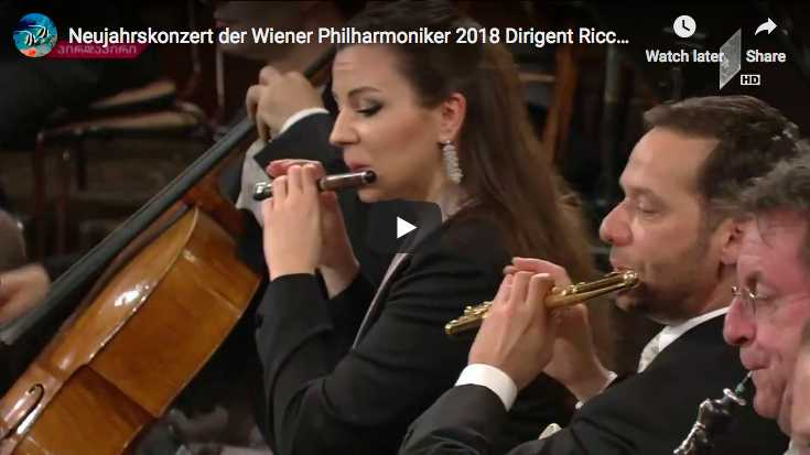 Ricardo Muti conducts the Vienna Philharmonic playing the Radetzky March for the 2018 New Year Concert