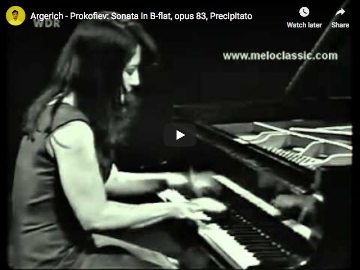 Martha Argerich performs the third and last movement from Prokofiev's Sonata No. 7 in B-flat major