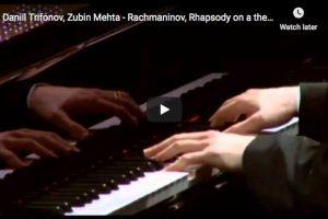 Rachmaninoff – Rhapsody on a Theme of Paganini – Trifonov, Piano