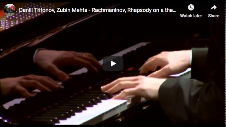 Rachmaninov – Rhapsody on a theme by Paganini – Trifonov, Piano