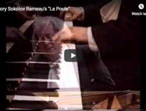 The Russian pianist Grigory Sokolov performs Rameau's La Poule, from the Suite in G major/G minor, fromthe Nouvelles suites de pièces pour clavecin