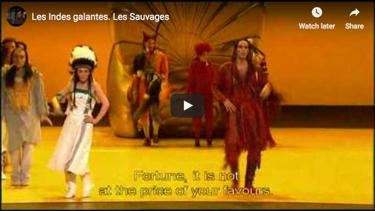 Nicolas Rivenq and Patricia Petibon sing the rondo from Les Sauvages, the fourth and last entrée from the French opera-ballet, Les Indes Galantes, composed by Jean-Philippe Rameau