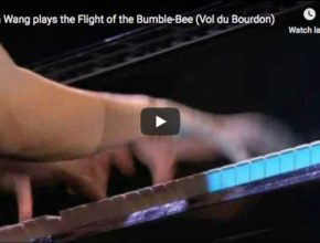 Yuja Wang is playing Cziffra's transcription for piano of Rimsky-Korsakov's Flight of the Bumblebee