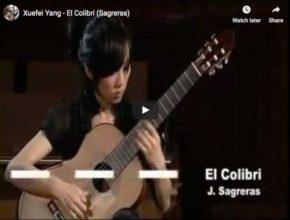 The guitarist Xuefei Yang performs Sagreras' virtuosic piece, El Colibri