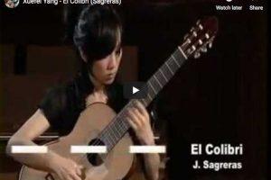 Sagreras – El Colibri – Yang, Guitar