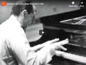 The pianist Vladimir Horowitz performs Scarlatti's Sonata K. 466 in F minor