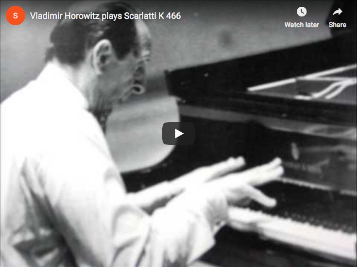 Scarlatti - Sonata K. 466 in F Minor - Horowitz, Piano